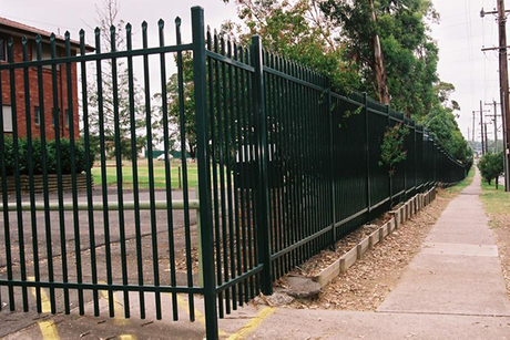 Pressed Spear Top Iron Fence