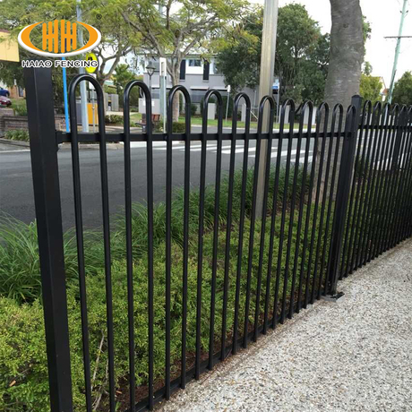 Bow Top Iron Fence